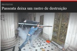 Matéria online do jornal Meia Hora
