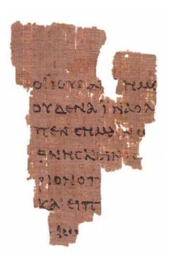 p52 - Um dos poucos pedaços dos evangelhos originais (nesse caso, João), escrito em grego