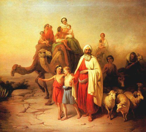 A partida de Abraão para Canaã, na visão de Molnár József.