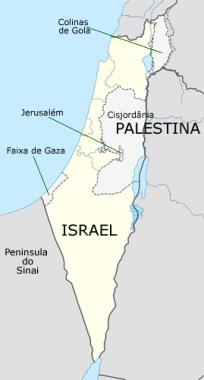 A região que é palco dos conflitos entre as duas nações.